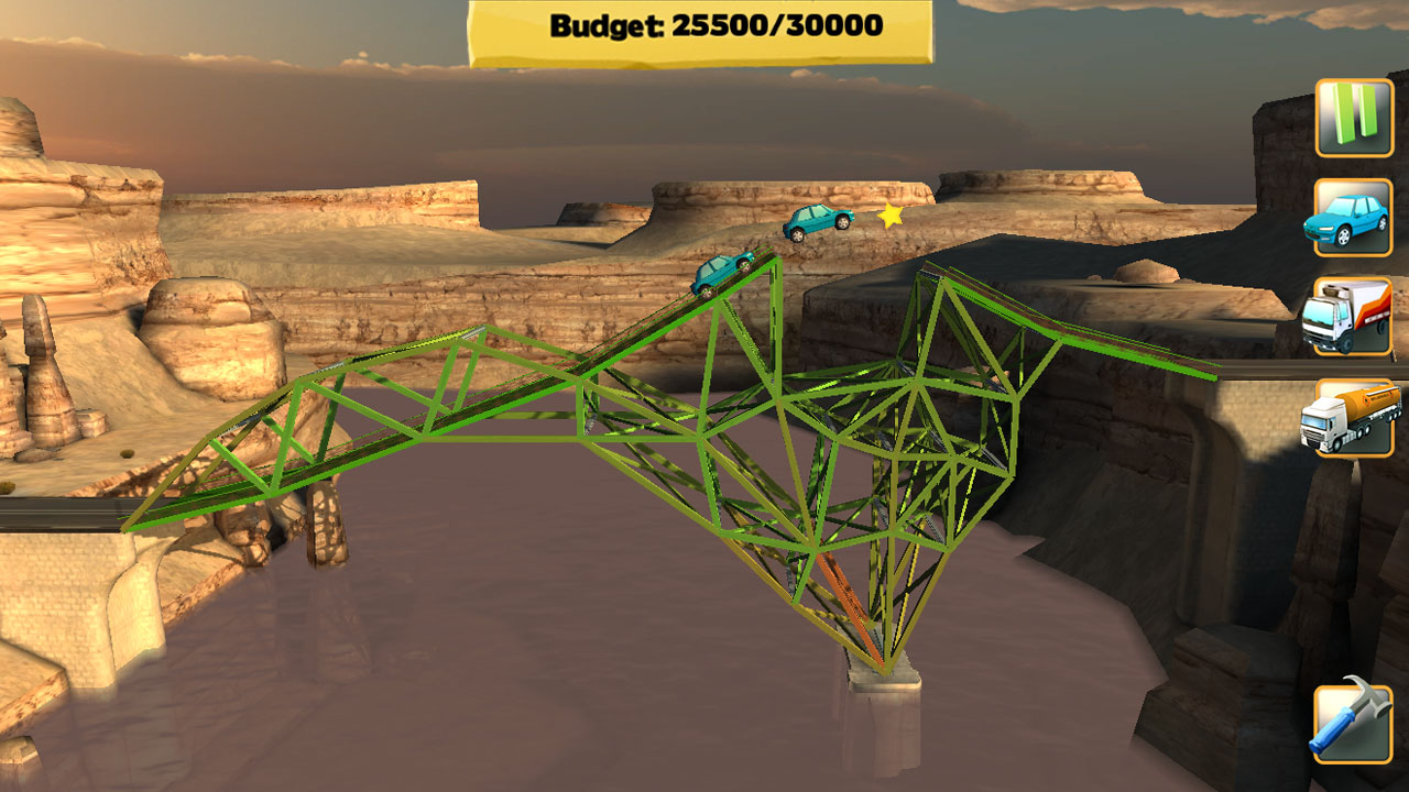 bridge constructor so get on the drawing board and set your imagination and creativity